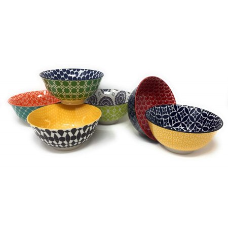Certified International Large Cereal, Soup, or Pasta Bowls, Chelsea Collection, 6.1 Inch, Set of 6 Assorted