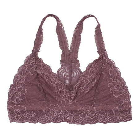 TOLD Clothing Women's Lace Racerback Bralette (Many Colors (Modal Bralette)