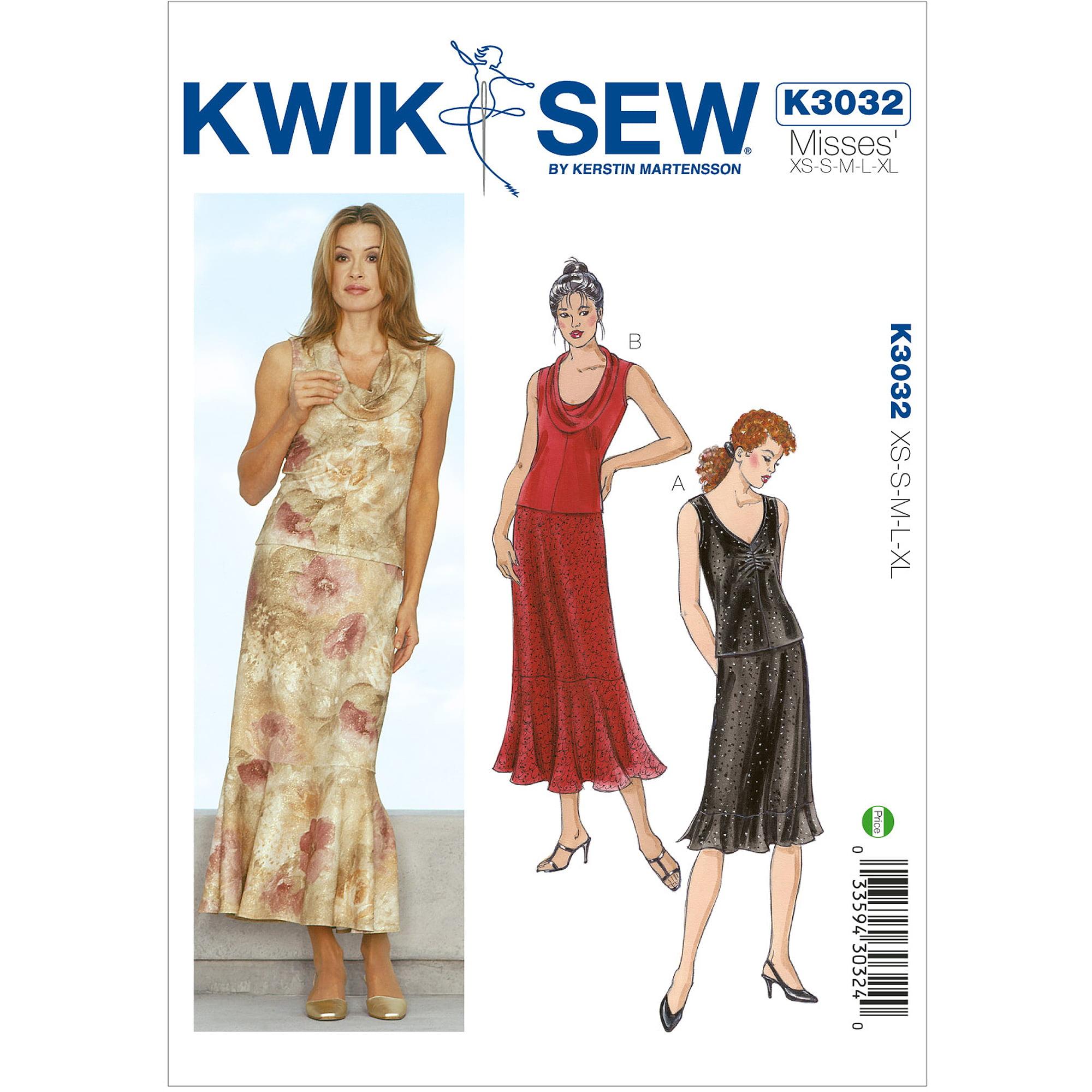 Kwik Sew Pattern Tops and Skirts, (XS, S, M, L, XL)