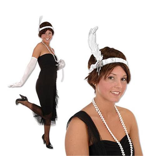 DDI 1908042 Flapper Headband - White Case of 12
