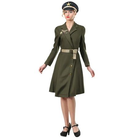 Blonde Bombshell Halloween Costume (Women's Bombshell Military Captain)