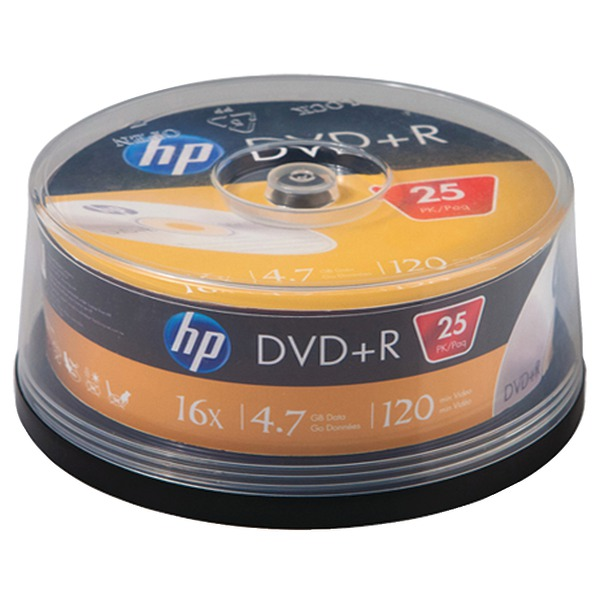 HP-4.7GB-16x-DVDRs-25-ct-Cake-Box-Spindle-DR16025CB