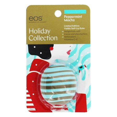 Eos Evolution Of Smooth   Holiday Collection Visibly Soft Lip Balm Sphere Peppermint Mocha   0 25 Oz  Limited Edition  Pack Of 1