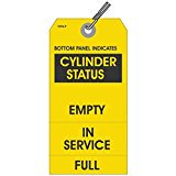 CYLINDER STATUS EMPTY or IN SERVICE or FULL Tags, 5.75