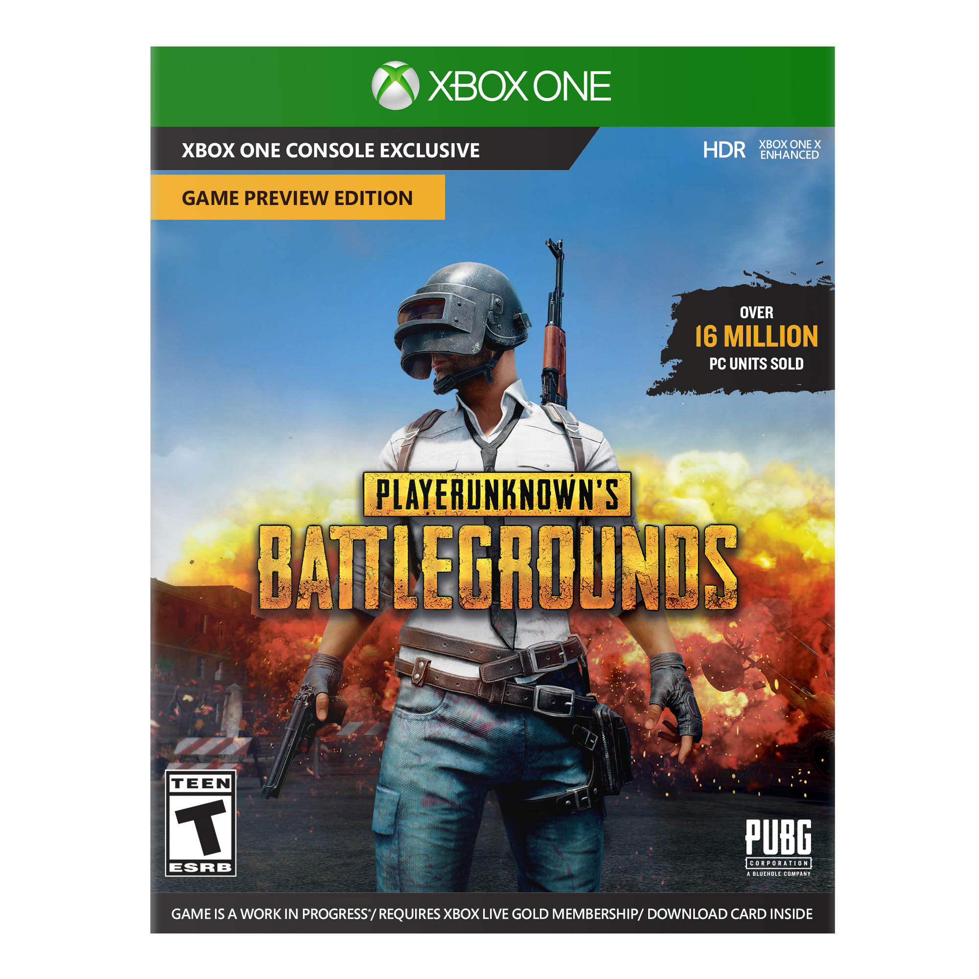 Playerunknowns Battlegrounds Game Preview Edition, Microsoft, Xbox One, 889842271348