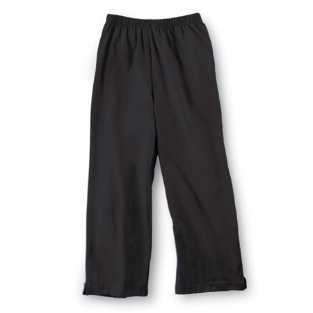 Pinstripe Capri Pants (Women's Elastic Waist Comfortable Cropped Capri Pants, Large, Black)
