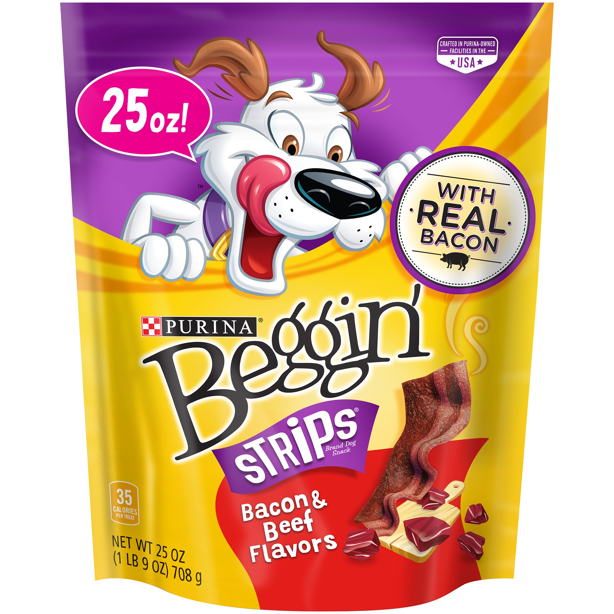 Purina Beggin' Strips Bacon & Beef Flavors Dog Snacks 25 oz. Pouch