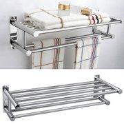 New Aluminum Wall Mounted Bathroom Towel Shelf Storage Rack