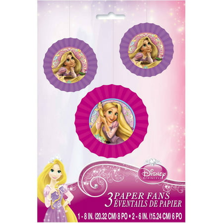 Disney Tangled Tissue Paper Fan Decorations, 3ct (Disney Wedding Decorations)