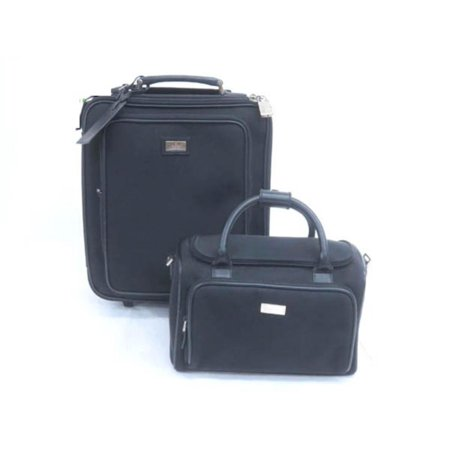 Rolling Luggage and Satchel 228885 Black Nylon Weekend/Travel