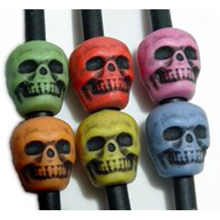 JOLLY STORE Crafts Skull Beads Multi Colors made in the USA ()