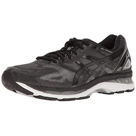 new style 928d1 b0482 asics men's gel-nimbus 19 running-shoes, black/onyx/silver, 10.5 4e(xw) us