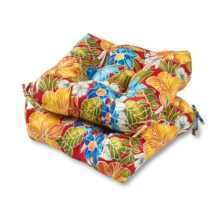 Greendale Home Fashions Aloha Floral 20 Outdoor Chair Cushion Set Of 2