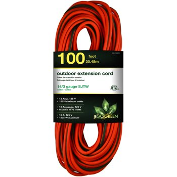 GoGreen Power 14/3 100-ft GG-13800 Heavy Duty Extension Cord
