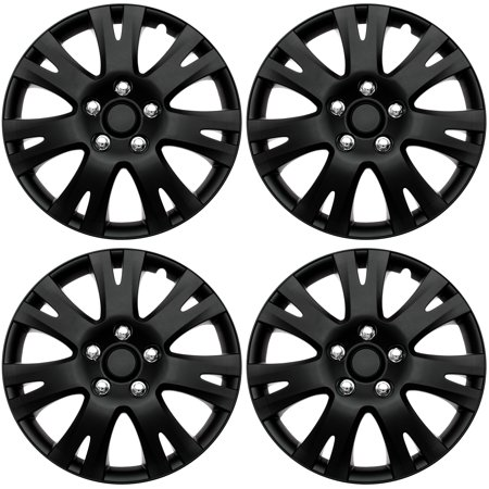 4 PC SET Hub Cap ABS BLACK MATTE 16