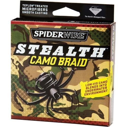Spiderwire Stealth Camo Braid Fishing Line, 300 yd Filler Spool