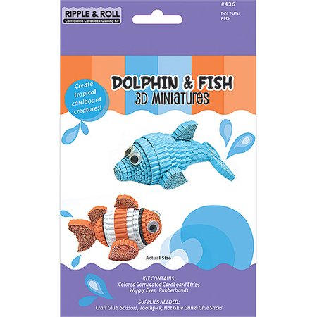 Quilling Kit  Dolphin And Fish