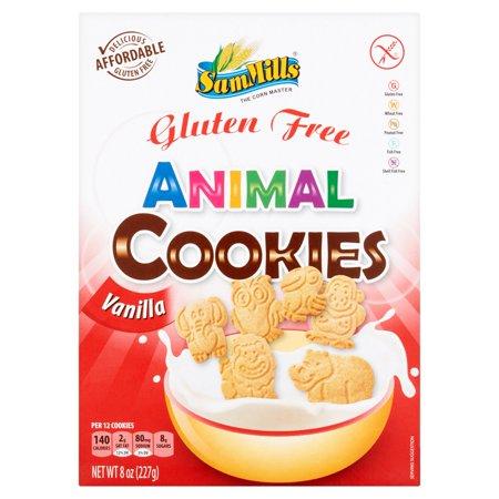 Sam Mills Gluten Free Vanilla Animal Cookies  8 Oz