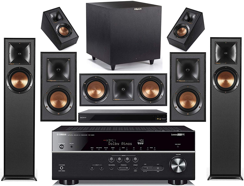 Yamaha 10.10-Channel Wireless Bluetooth 10K 10D A/V Surround Sound Receiver +  Klipsch Multimedia Home Theater Speaker System - Walmart.com