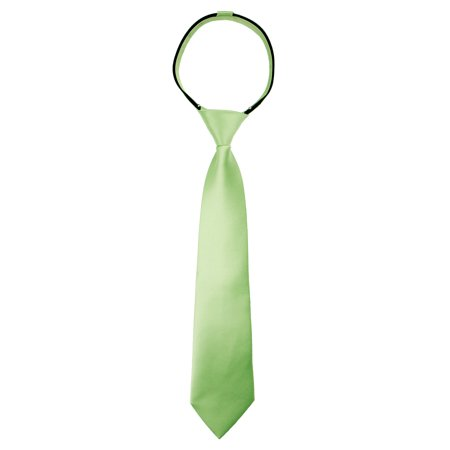 Spring Notion Boy's Solid Color Satin Zipper Tie