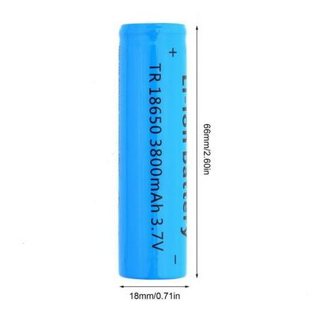 18650 Li-ion 3800mAh 3.7V Re able Battery for Your Flashlight 2Pcs - image 7 de 8