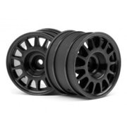 HPI Racing 107970 WR8 Rally Off-Rd Wheel (2-Piece), Black, 48x33mm
