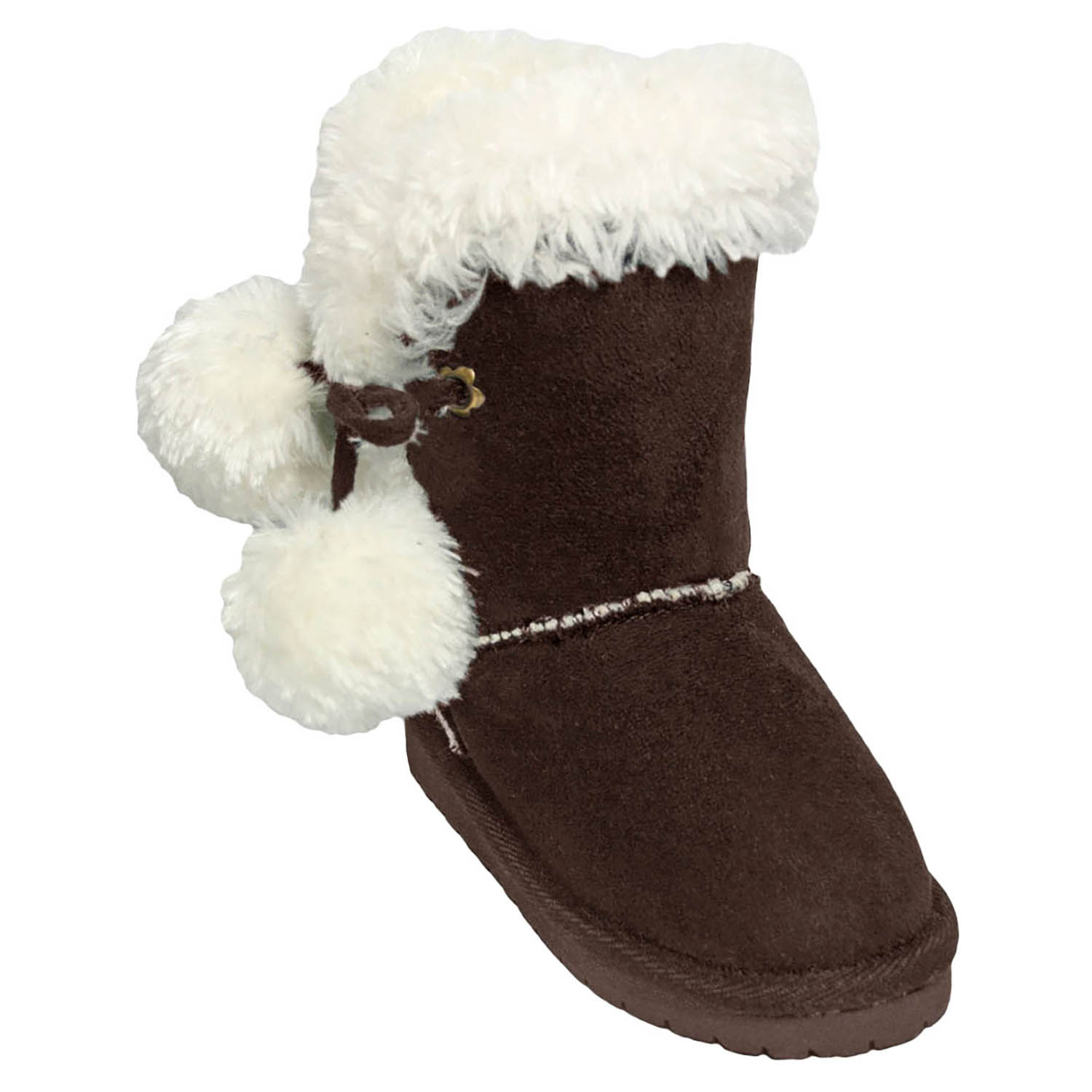 Kids' Dawgs Microfiber Side Tie Boots Chocolate Size 10-11