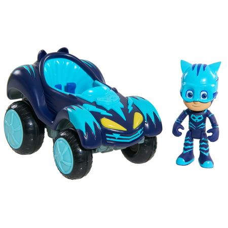 PJ Masks Hero Boost Vehicle - Cat-Car & Catboy - Squidward Mask