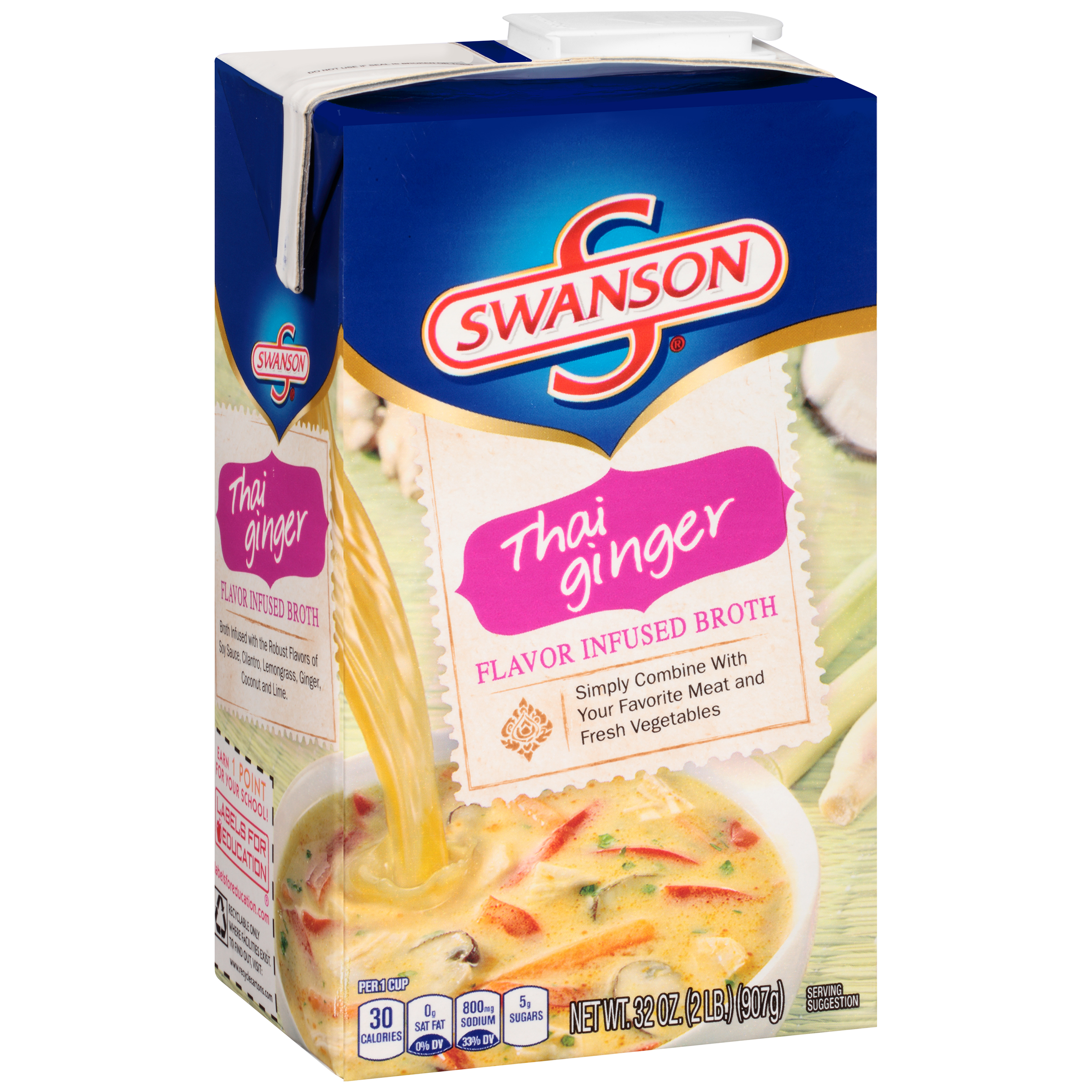 Swanson Thai Ginger Flavor Infused Broth 32oz