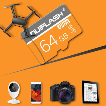 Fysho 128GB Micro SD Card With Adapter (Class 10 Speed) Memory Storage For Cameras Tablets