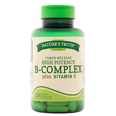 2 Pack Natures Truth High Potency Complete B Complex Vitamin C 100 Caplets