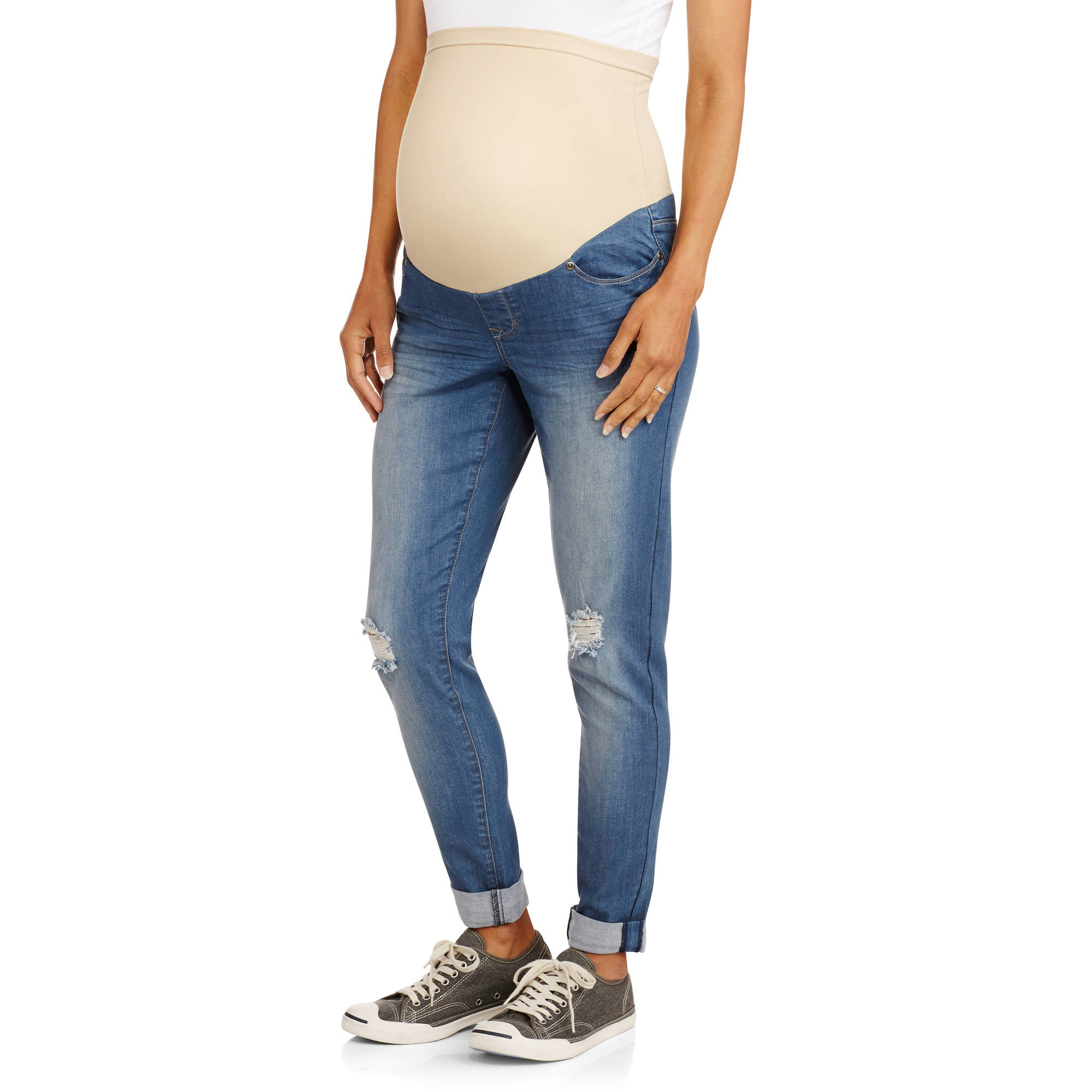 b3d8cae87572f Oh! Mamma - Full Panel Maternity Leggings -- Available in Plus Size -  Walmart.com