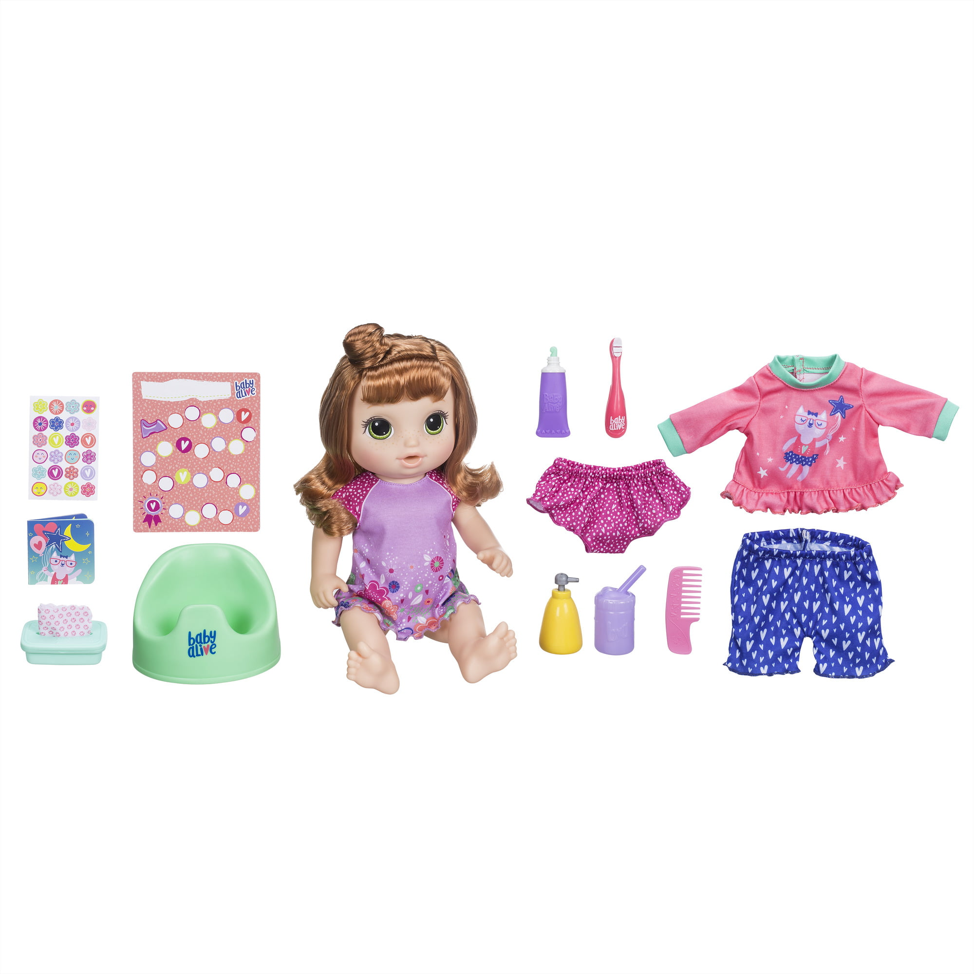 Baby Alive Potty Dance Baby Exclusive Value Pack (Red Curly Hair)