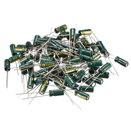 Aluminum Radial Electrolytic Capacitor Low ESR Green with 47uF 25V 105 Celsius Life 3000H 5 x 11 mm High Ripple Current, - image 4 de 4