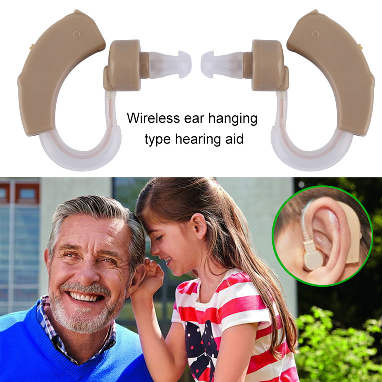 Professional A Pair/Set Hearing Aid Sound Voice Amplifier High-Low Tone Convenient Hearing Aid Amplifier Tool