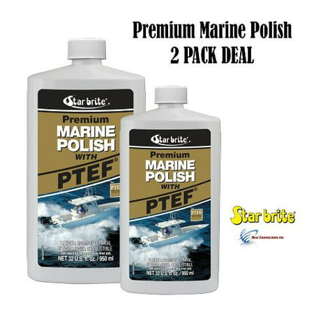 2 Pack Premium Marine Polish w/ PTEF Fiberglass Metal Paint StarBrite (Best Bottom Paint For Fiberglass Boats)