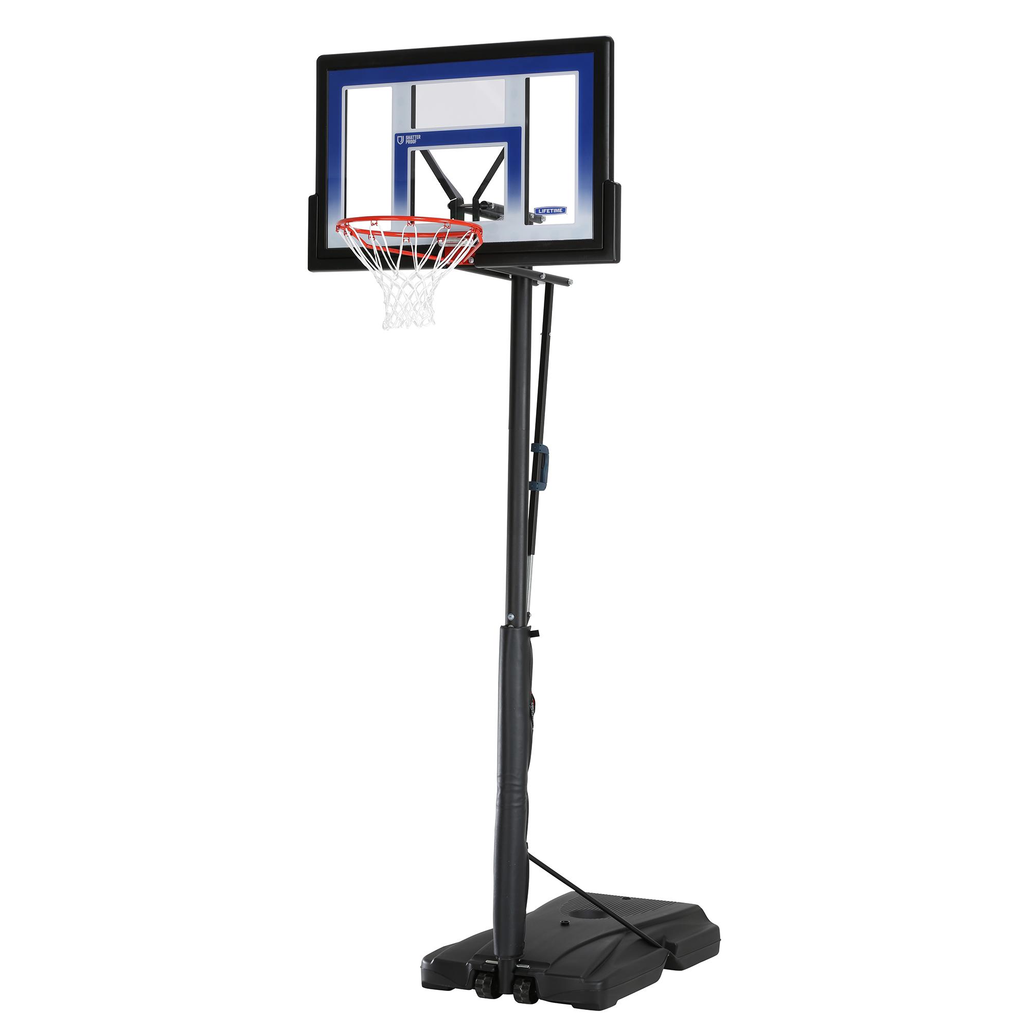 Lifetime 48″ (51550) Shatterproof Portable One Hand Height Adjustable Basketball System