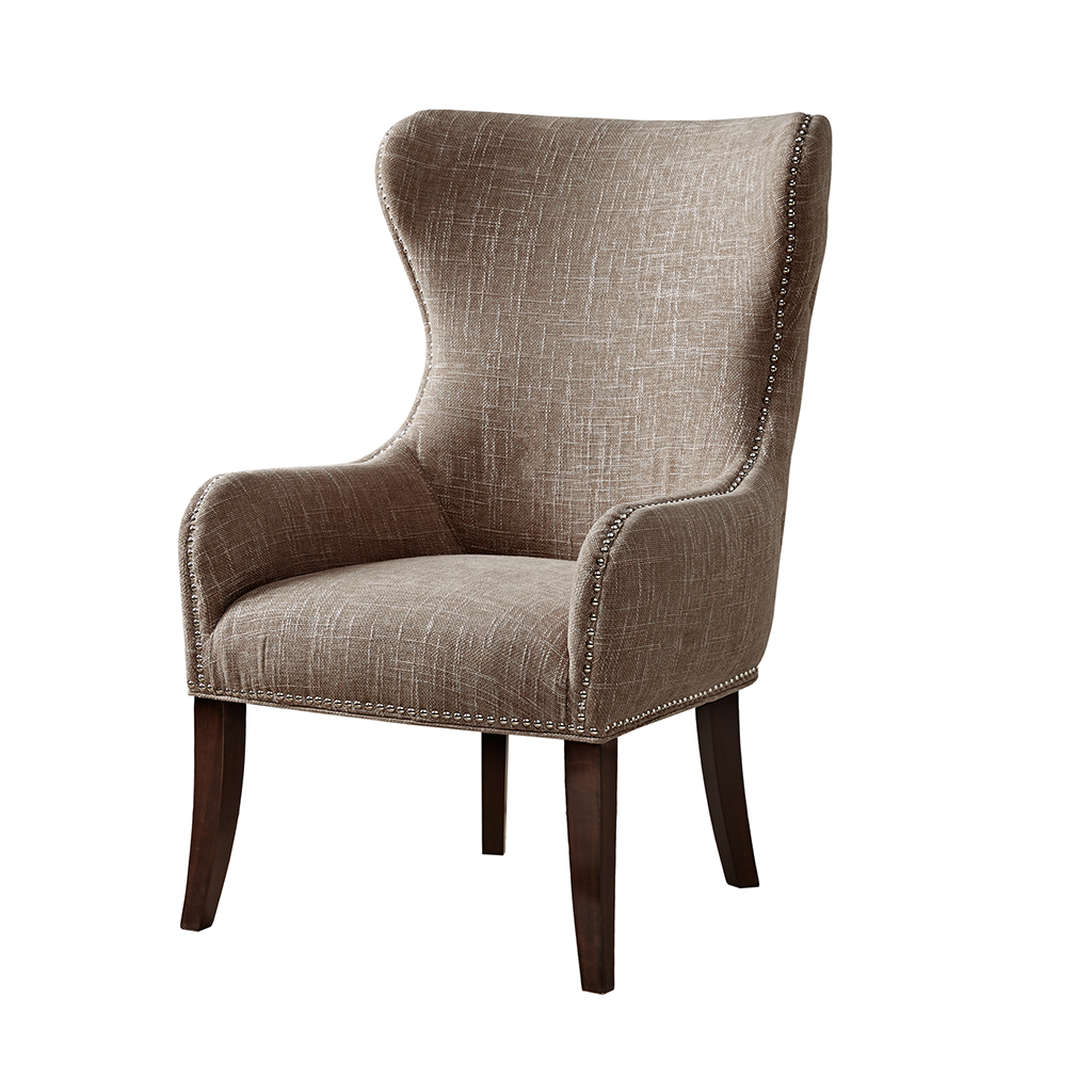 madison park hancock button tufted back accent chair walmart com
