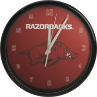 Arkansas Razorbacks Black Rim Basic Wall Clock