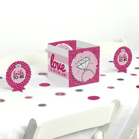 Bride-To-Be - Bridal Shower & Classy Bachelorette Party Centerpiece & Table Decoration Kit