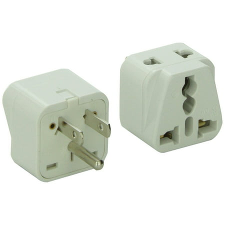 CKITZE BA-5AN Grounded Universal 2 in 1 Plug Adapter Type A/B for USA, Canada, Brazil, parts of Japan & more - CE (Canada Plug)