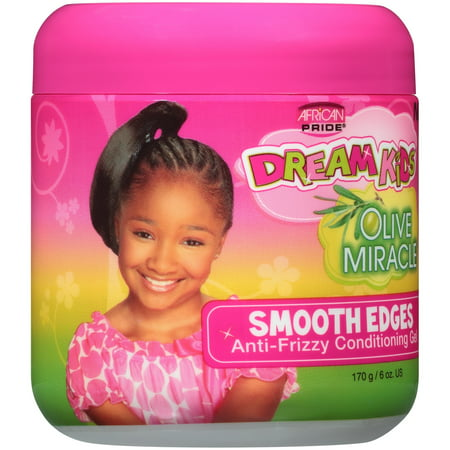 (2 Pack) African Pride® Dream Kids® Olive Miracle® Smooth Edges Hair Gel 6 oz.