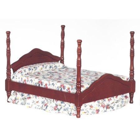 Dollhouse Mahogany Cannonball Bed - Walmart.com