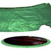 15' trampoline pad color: green