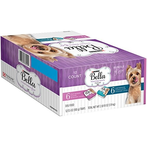Purina Bella Bundle of Joy Filet Mignon & Porterhouse Steak Flavor Variety 24-Pack Wet Dog Food, 3.5 Oz