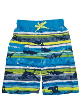 84eb512702 Product Image Boys Colorful Striped Sharks Cargo Surf Shorts Swim Trunks  Board Shorts
