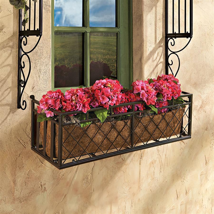 European-Style Metal Window Box