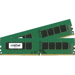 - Crucial 16GB (2x8GB) DDR4 2400 MHz 1.20 V Non-ECC Unbuffered 288-pin DIMM Memory