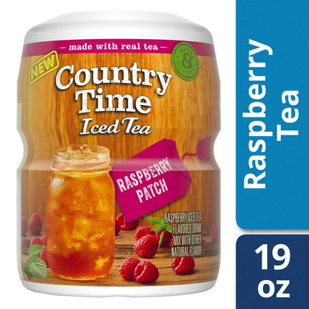 - (2 Pack) Country Time Sugar-Sweetened Raspberry Tea Powdered Soft Drink, 19 oz Tray