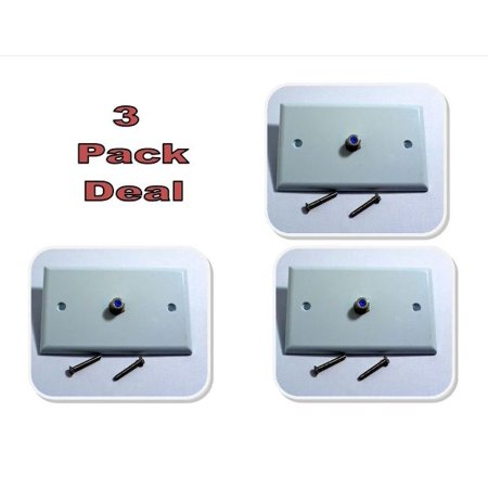 3 PACK White Coax Cable 3Ghz Wall Plate CATV SATV DIRECTV F81 5Mhz HDTV RG6